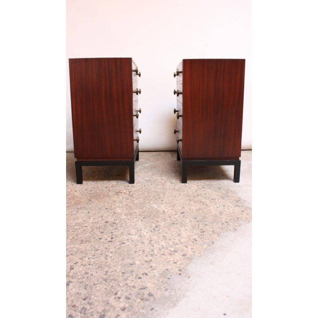 Pair of Midcentury Stained Mahogany Chest of Drawers - Image 2 of 9