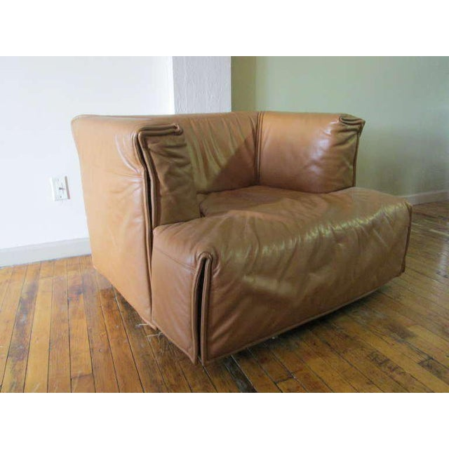 1960s Unique Italian Leather Chair For Sale - Image 5 of 5