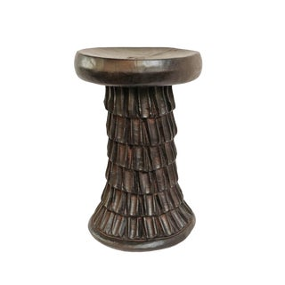 Oku Wood Stool Cameroon For Sale