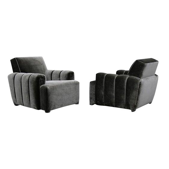 Todd Merrill Custom Originals Channel Tufted Club Chair For Sale