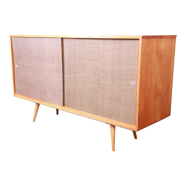 Paul McCobb Planner Group Mid-Century Modern Solid Maple Sideboard Credenza, 1950s For Sale