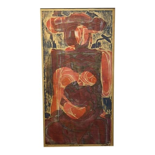 """Clay Walker """"Mechanical Man"""" Woodcut/Relief Print For Sale"""