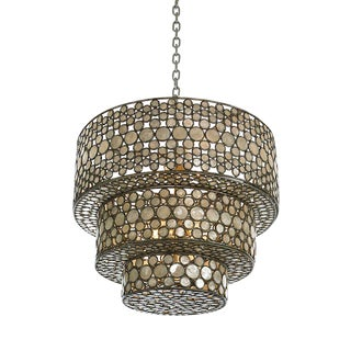 Capiz Shell Tiered Chandelier by Century Furniture For Sale