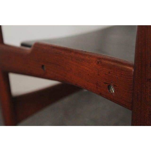 Black 1950s Vintage Arne Hovmand-Olsen for Jutex Teak and Leather Rounded-Back Chair For Sale - Image 8 of 12