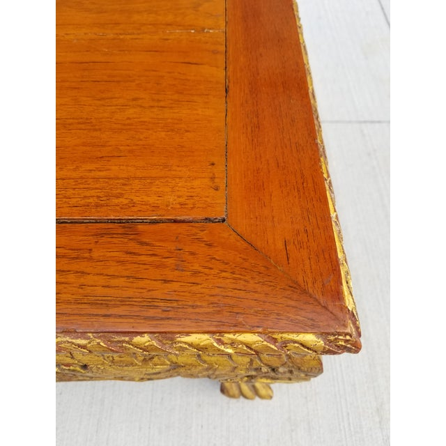 Antique Chinese Gilt Carved Wood Kang Table For Sale - Image 12 of 13
