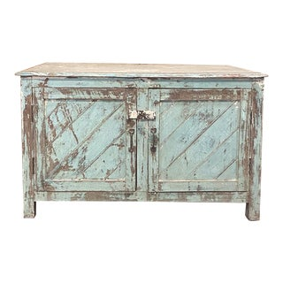 Antique European Painted Store Cabinet For Sale