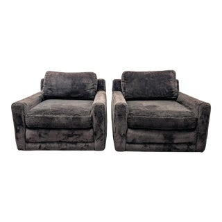 Mid Century Modern Lounge Chairs by Directional- A Pair For Sale