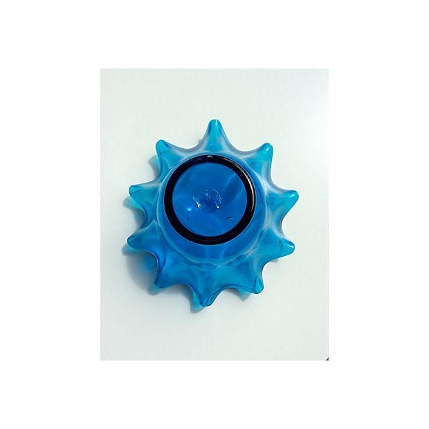 Electric Blue Bischoff Ruffled Glass Bowl - Image 5 of 5