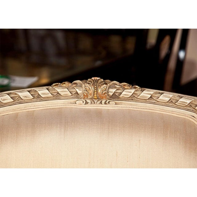 French French Louis XVI Style Bergère Chairs - A Pair For Sale - Image 3 of 11