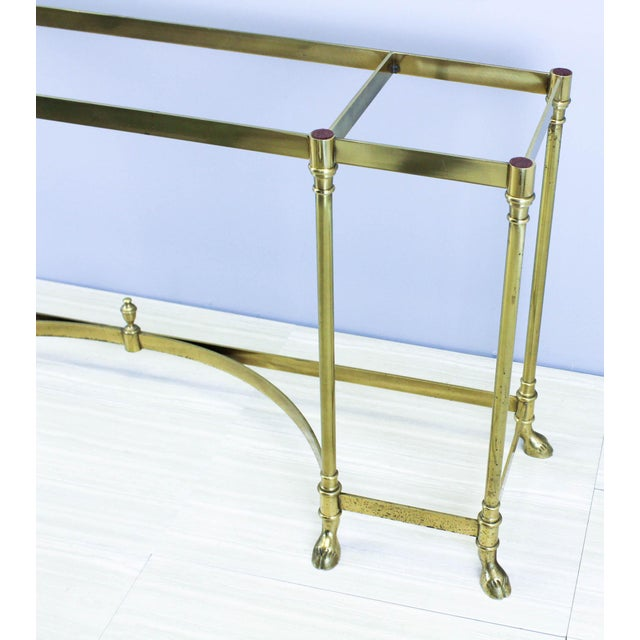 Italian Brass Hoof Foot Console For Sale - Image 5 of 10