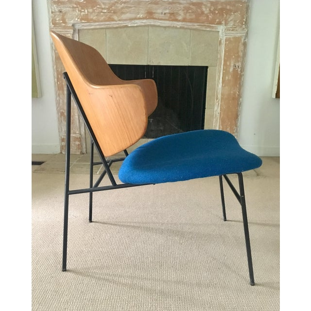 "Ib Kofod Larsen ""Penguin"" Chair in Blue - Image 5 of 11"