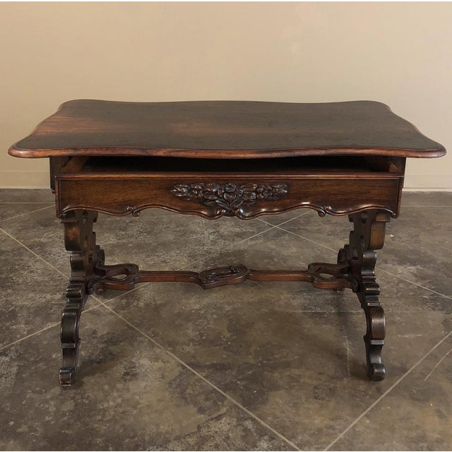 Napoleon III 19th Century French Napoleon III Rosewood Writing Desk For Sale - Image 3 of 13