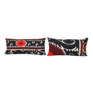 Suzani Lumbar Pillow Case - Set of Two For Sale