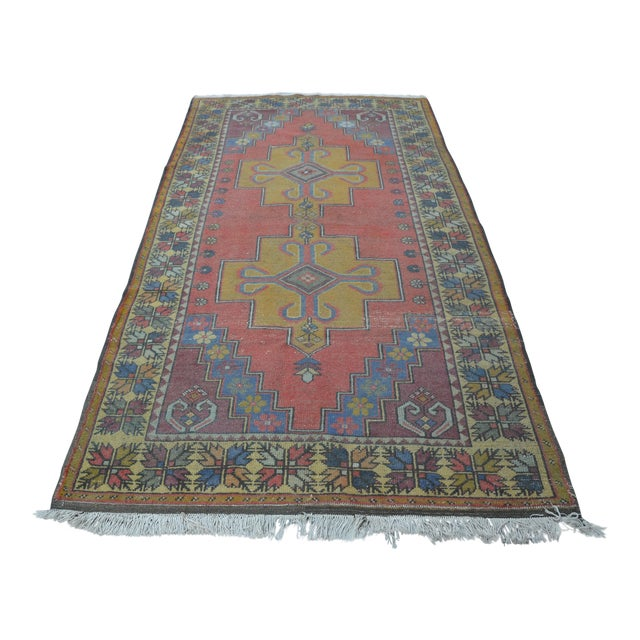 Turkish Handwoven Wool Rug - 4′7″ × 8′7″ - Image 1 of 6