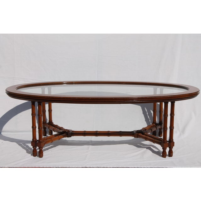 1960's Mid-Century Faux Bamboo Coffee - Image 4 of 11
