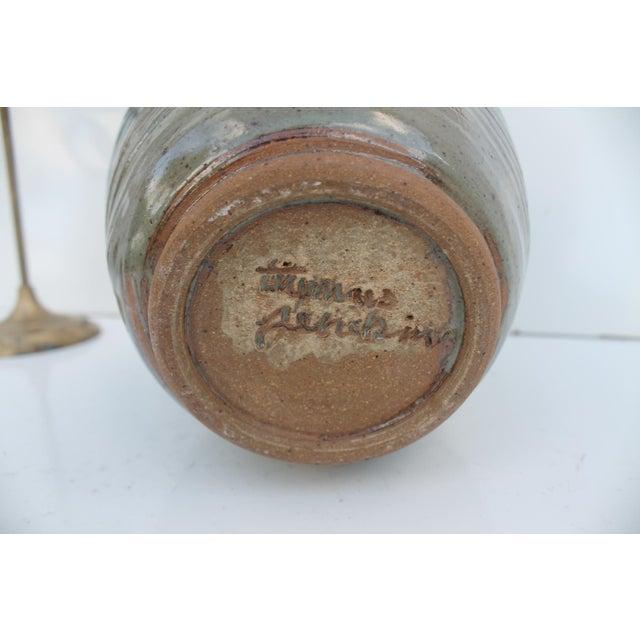 Vintage Green & Blue Glaze Bud Vase - Image 6 of 8