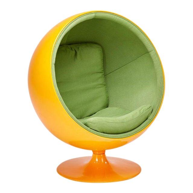 Tangerine Bubble Chair in the Style of Eero Aarnio | Chairish