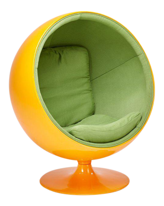 Tangerine Bubble Chair In The Style Of Eero Aarnio   Image 1 Of 3
