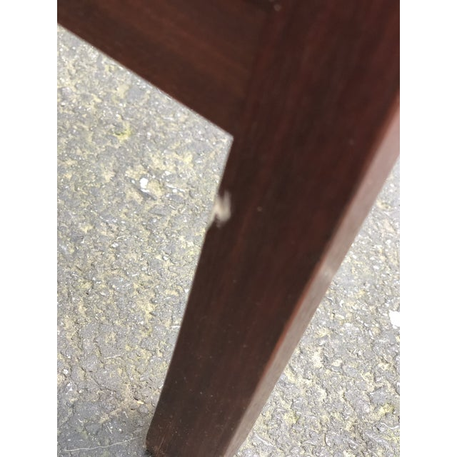 Plastic Mid Century Modern Walnut Inlaid Coffee Cocktail With 2 Benches For Sale - Image 7 of 8