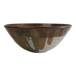 David Cressey Style Stoneware Bowl For Sale