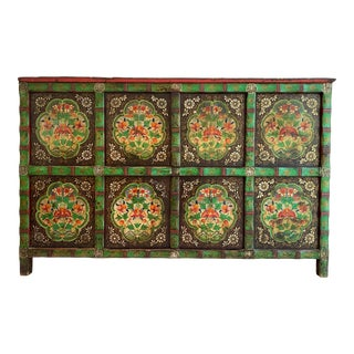 Late 18th Century Tibetan Wooden Chest For Sale