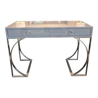 Contemporary Grey Lacquer Desk For Sale