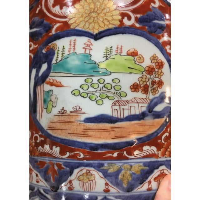 Japanese Imari Porcelain Covered Jars - a Pair For Sale - Image 9 of 12