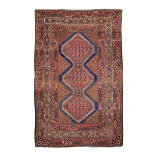 Antique Malayer Persian Rug with Modern Tribal Style For Sale
