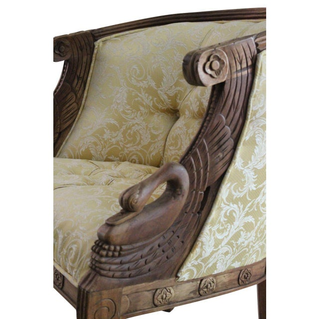 Mahogany Swan Carved Armchairs - A Pair - Image 5 of 5