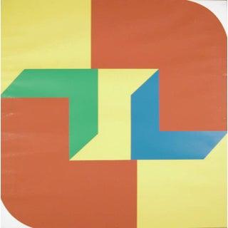 Georg Karl Pfahler Color Block Signed Serigraph Print For Sale