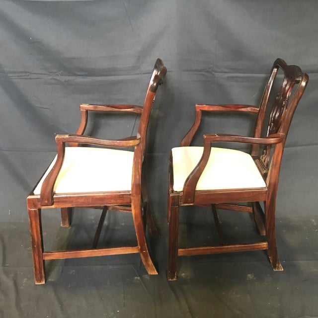Mid 19th Century 19th Century Antique English Mahogany Chippendale Style Dining Chairs-Set of 6 For Sale - Image 5 of 13