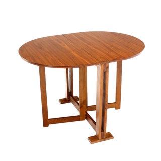 Danish Mid-Century Modern Walnut Drop-Leaf Dining or Breakfast Table For Sale