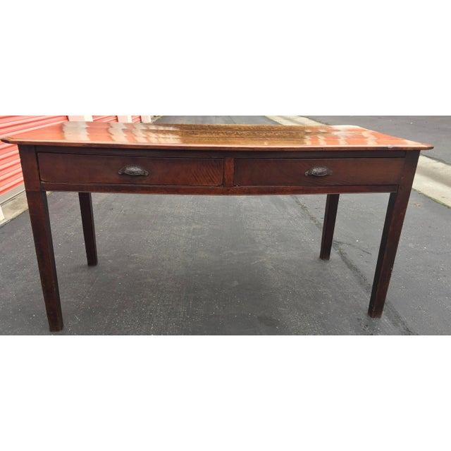 Antique French Farm Table With Drawers For Sale - Image 13 of 13