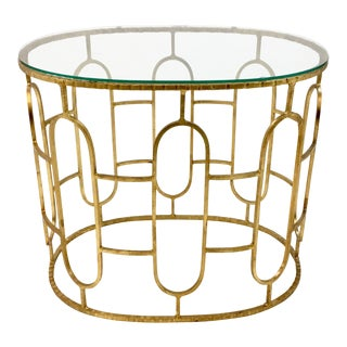 Cyan Design Gold Geometric Camelina Side Table For Sale