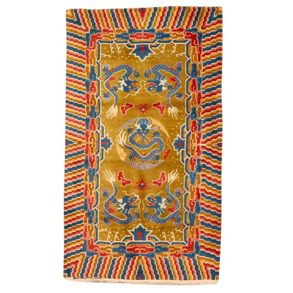 Antique Early 20th Century Chinese Rug For Sale
