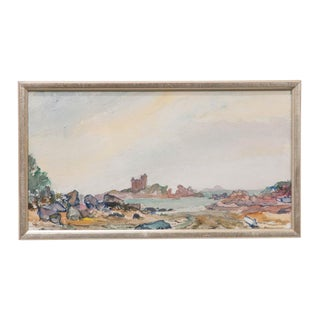 19th Century French School Watercolor Painting on Paper For Sale