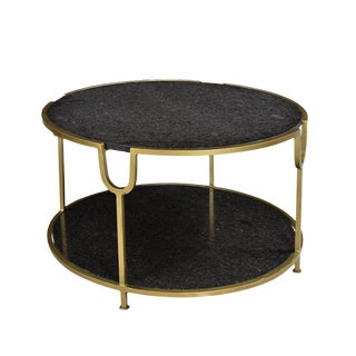 Rochester Black Marble Coffee Table For Sale