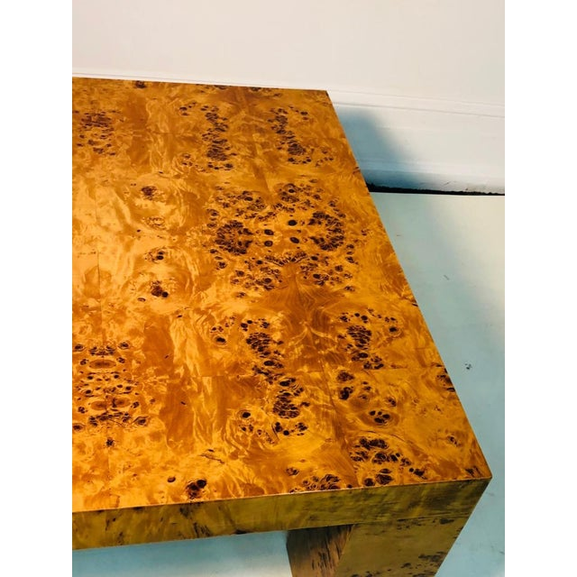 Late 20th Century Burl Wood Table by Willy Rizzo For Sale - Image 5 of 9