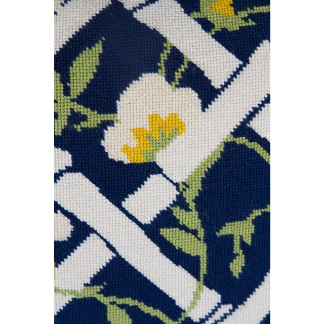 Needlepoint Trellis Throw Pillow - Image 3 of 4