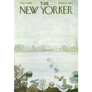 Vintage 1962 New Yorker Cover, March 31 (Ilonka Karasz), Fishing For Sale