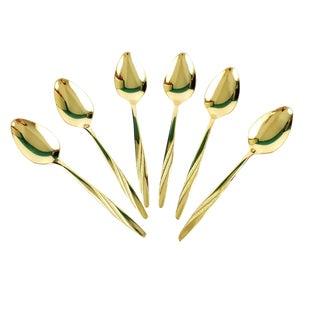 International American Flair Gold Stainless Teaspoons - Set of 6