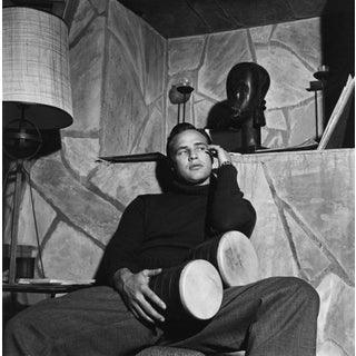 Marlon Brando at His Beverly Glen Home in Los Angeles 1953 Photo by Sid Avery For Sale