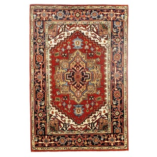 Traditional Pasargad N Y Serapi Design Hand-Knotted Rug - 4' X 6' For Sale