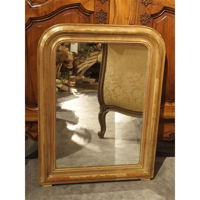 19th Century French Louis Philippe Giltwood Mirror For Sale - Image 10 of 11