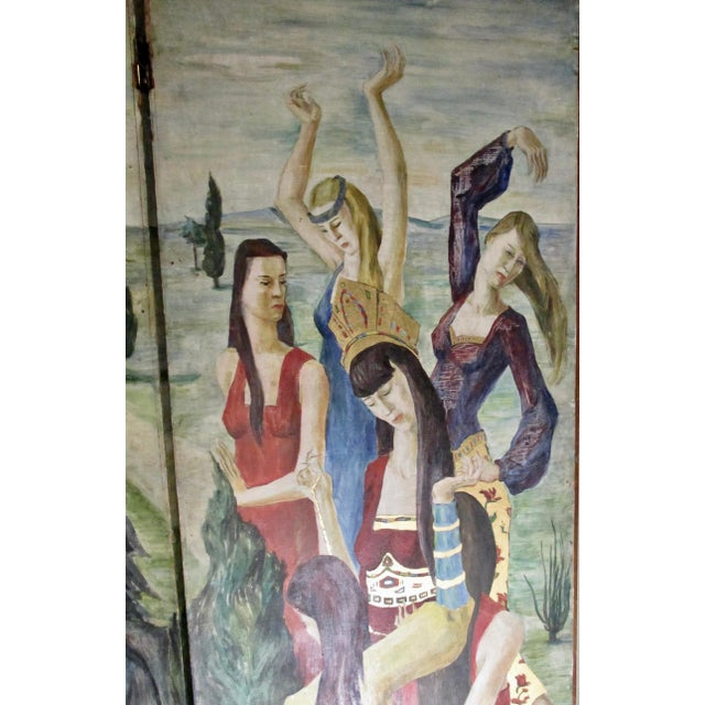 1930s Russian Fairy Tale Floor Screen For Sale In New York - Image 6 of 13