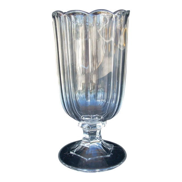 Antique Clear Celery Vase Chairish