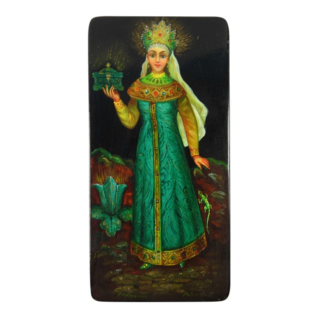 Russian Hand Painted Lacquer Box - Image 1 of 7