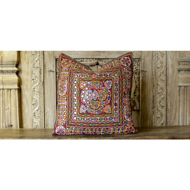 Aasthika Reshmi Sutra Pillow For Sale - Image 4 of 4
