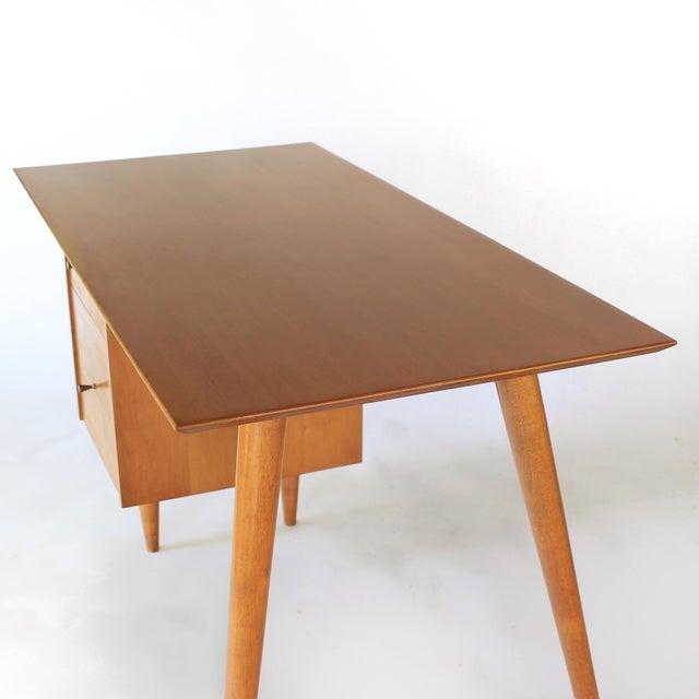 1960s 1960s Mid-Century Modern Paul McCobb Planner Group Winchendon Solid Maple Tanker Desk For Sale - Image 5 of 12