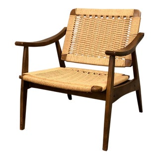 Mid-Century Modern Rope Chair W/Tilting Back ~ in the Style of Hans Wegner